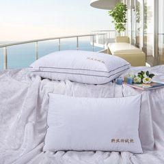 记忆枕 慢回弹定型枕保健枕 羽绒枕枕头枕芯护颈枕 立体黑边纤丝羽绒枕(单个价格)