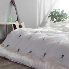 Thick warm winter quilt cotton sanding core double cotton bedding by INS during the spring and autumn winter cactus 150x200cm (5 jin) Cactus