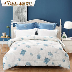 Mercury home textile quilt winter is authentic single double dormitory thickening warm fiber, quilt core space quilt 6 Jin 200X230 [about 6 Jin] Love in Puerto Galera, winter quilt
