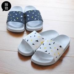 Slippers lady summer home, soft bottom, non slip bath bathroom home, lovely Nordic men's plastic lovers cool slippers Size 28 (for size 42-43) white