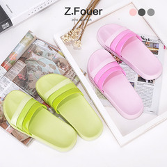 Home Furnishing style minimalist bathroom slippers boy summer thick bath slippers lovers summer indoor slippers Size 24 (for size 35-36) Orange powder