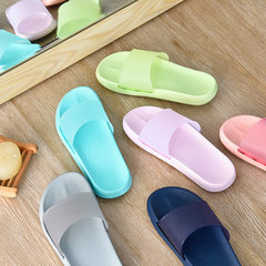 Excellent summer style Japanese couples bathroom slippers, men and women floor, bedroom bath skid, summer thick base Size 25 (for size 37-38) light pink