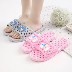 Summer slippers, home slippers, bathroom slippers, men and women indoors, home bath, water leakage, antiskid slippers 42-43 yards (about 41-42 yards) Sky blue