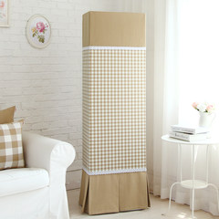 The GREE Haier vertical / square / cabinet cabinet type air conditioner cover modern minimalist lattice cloth dust cover Tea small lattice square cabinet hood - Opening Tablecloth 110× 110cm