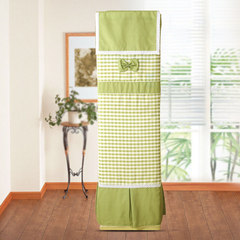 Cloth cover all the dust cover simple vertical air conditioning GREE air conditioner cover square pastoral boot does not take Fresh green Table runner 30&times 180cm;