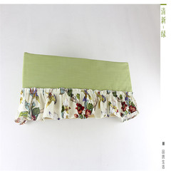 Air conditioning cover, yarn dyed fabric, lattice fabric, skirt hanger, GREE air conditioning hood, dust cover, air conditioner cover, beautiful cover, fresh and green table flag 30×, 180cm