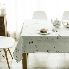Simple and modern Nordic minimalist modern tablecloth fabric rectangular tea table table tablecloth cover cloth tablecloth music spring river D backpack 67*78