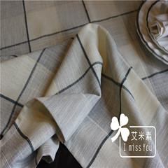 Amy Japanese restaurant table pad thickening tablecloth table cloth desk table cloth cover towels lattice Light blue plaid 130*240cm