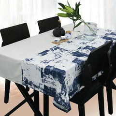 Chinese ink table linen tablecloths table cloth cloth cloth table cloth decoration Youth passes as a fleeting wave. Dai blue 130*180cm