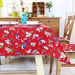 Mr. rabbit, Chinese garden flower bird table cloth cotton thickened leaves the table cloth cloth can be customized. Song - red cloth 65+17 vertical *180cm