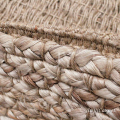 A long history of natural environmental protection handmade jute carpet, living room, coffee table, bedroom, dining table, kitchen, balcony mats customized Customize any size (square price) Jute