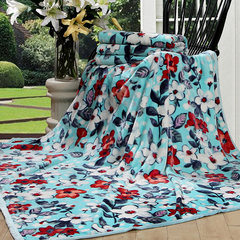 Holy flower fuanna produced in spring and summer travel blanket blanket home office siesta blanket classical 150cmx200cm House full of romance