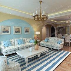 地毯客厅简约现代蓝色北欧地中海沙发茶几卧室手工地毯加厚可定制 定制尺寸联系客服 如图色