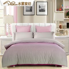 Fashion simple cotton bedding cotton satin quilt genuine mercury textile four piece solid bed 1.8m 1.5m (5 feet) bed