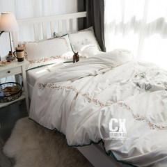 Rococo pastoral floral embroidery fairy paragraph 60 cotton sateen cotton four set cotton bedding Bed linen Fairy embroidery Rococo 1.5m (5 feet) bed