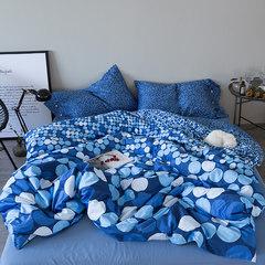 南极人40支全棉贡缎长绒棉四件套纯棉被套床单1.8m2.0米床上用品 守护丽人 1.5m(5英尺)床