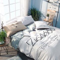南极人床上四件套全棉纯棉公主风1.5/1.8m床双人床上用品床单被套 zo作 1.5m(5英尺)床