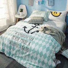 南极人床上四件套全棉纯棉公主风1.5/1.8m床双人床上用品床单被套 圣托里尼 1.5m(5英尺)床