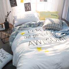 南极人床上四件套全棉纯棉公主风1.5/1.8m床双人床上用品床单被套 星动 1.5m(5英尺)床