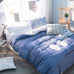 南极人床上四件套全棉纯棉公主风1.5/1.8m床双人床上用品床单被套 菜鸟驿站 1.5m(5英尺)床