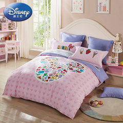 LOVO Carolina textile product life cartoon cotton bed four pieces cotton bedding quilt 17 new children 1.2m (4 feet) bed
