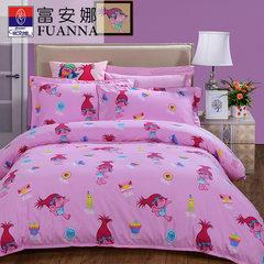 Anna textile cotton four set 1.8m cotton bedding bedding New Adventures of elves Four sets of cotton fairy Adventures 1.5m (5 feet) bed
