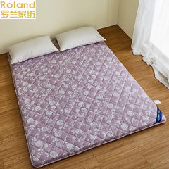 Single bed mattress Rowland textile thickened tatami folding bamboo charcoal mattress is breathable Japanese 1.5 meters Japanese Purple Print 1.0*2m (3.3 foot) bed