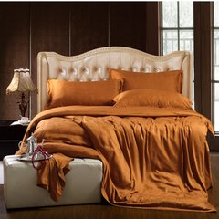 The hotel bed four pieces of bamboo fiber products 60 Satin Jacquard bedding bedding sheets Suite amber 1.8m (6 feet) bed