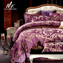Jue, home textiles, European Satin Jacquard, four piece bedding, 4 pieces of quilt, bedding, bedding, today's big loss 1.5m (5 feet) bed.