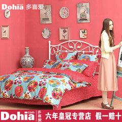 I like four sets of home textiles bedding, pure cotton RETRO art, wedding combing cotton 4 sets 1.5m (5 feet) bed