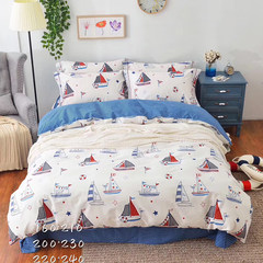 The first half of my life was the same child quilt cover three pieces of cotton baby bed sheet four piece set of male and female 1.2m bed bed plain sailing (1.2m 4 feet) bed.