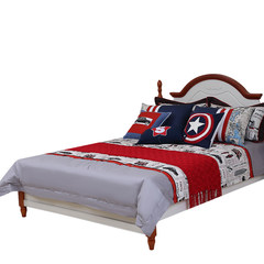The Mediterranean wind children's bedding set of four cotton cotton boy model room bed ten pieces of custom Bed linen Mediterranean style bed products 1.5m (5 feet) bed