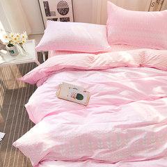Duo home textiles South Korea ins bed four piece set of Nordic wind COTTON BEDSPREAD Quilt Children bedclothes cotton kits all cotton: romantic dance step FB 1.8m (6 ft) bed