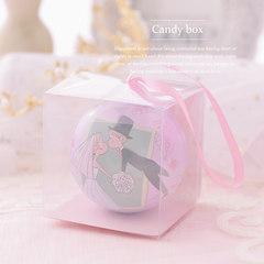 Cheng Xiang Xi product of personality Poke Ball tinplate candy boxes European creative wedding wedding supplies 6.8CM Pink (containing PVC box)