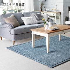 半岛良品地毯客厅 门垫门厅卧室满铺茶几办公加厚地毯床边绒面垫 1.6*2.3m 地中海风情纯色简约(淡蓝)