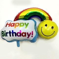 Oversized rainbow, rainbow smiley face, aluminum film balloon, wedding wedding room, birthday party decorated rainbow aluminum foil balloon More than 50 prices