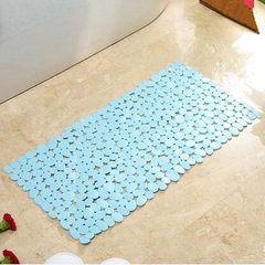 Special environmental protection bathroom, antiskid foot cushion sucker, bathroom antiskid floor mat bath shower room massage bathtub pad 50× 80CM Hu blue