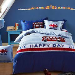 汽车男孩儿童套件床上四件套纯棉样板房卡通床上用品1.5m1.2m床 1.0m(3.3英尺)床