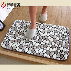 Thickening, encryption, soft stretch, water absorption, environmental protection, printing and dyeing, bathroom, bedroom, balcony, mat mat, 2 Z Custom size please consult customer service Stereo stone Pink