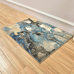 Gentleman dog mat doormat mat Abstract simple household kitchen porch mat bedroom bedside table pad blanket 0.9× 1.2 meters, weighs about 4.2 Jin B-SS Galaxy