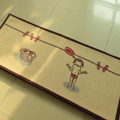 Cartoon door mat door mat door mat enter door porch mat vestibule bathroom kitchen anti-skid pad foot mat 60X160CM long strip I don`t wash