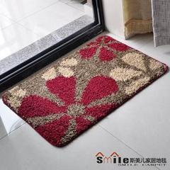 Japanese style bath mat mat mat mat water slip door bedroom Doorin | mat 50× 80CM Red flowers