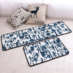 Nordic kitchen mat long anti-slip anti-accelerator pad bathroom waterproof foot pad bedside mat household mat can be machine-washed 50*80CM ink pad