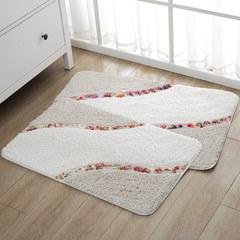 Home bedroom bathroom door mat mat mat mat in bathroom bathroom water antiskid mat 60× 120CM Super fine Camel