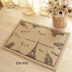 Zakka style special thickened flax anti-skid door mat absorbent floating window mat toilet mat washable 45*120 cm flax tower