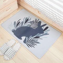 The door to door mat mat toilet water bath rub carpet doormat mat antiskid mat household toilet 50x80CM Dense woods - Rabbit
