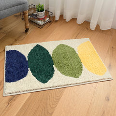 The bedroom door to door pad pad chenille bathroom bath mat mat flocking thickened water 50*80CM Lemon mat at the bottom of the rice field