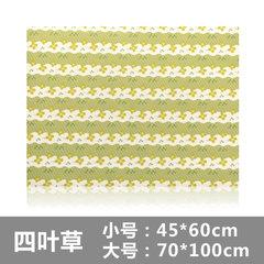 BELO/ 100 self-adhesive pad exposed hall bedroom door doormat mat kitchen bathroom door absorbent pads A clover 60x45cm