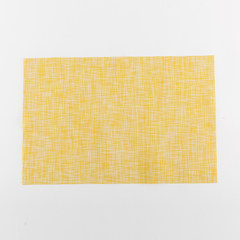 Creative Western-style Western-style food cushion PVC heat insulation mat, Japanese waterproof rectangular table mat, restaurant washable coaster Lemon Yellow PVC mat