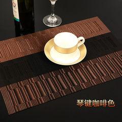European style cushion, heat insulation mat, thicken cloth cloth cushion, Western dish cushion, bowl mat mat, PVC water washing environmental protection table mat Keyboard coffee [45X30CM]